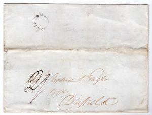 GB-YORKS: 1839 ENTIRE WITH A SCARCE SKIPTON POSTMARK.