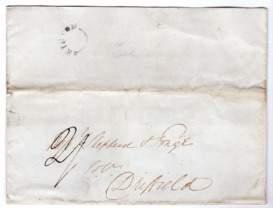 GB-YORKS: 1839 ENTIRE WITH A SCARCE SKIPTON POSTMARK.