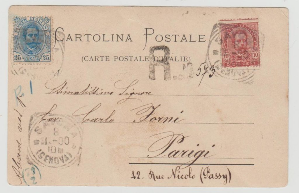 Italy Registered Postcard with Postage Due