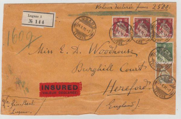 Switzerland insured mail