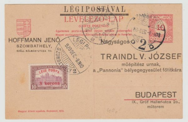 Hungarian internal airmail