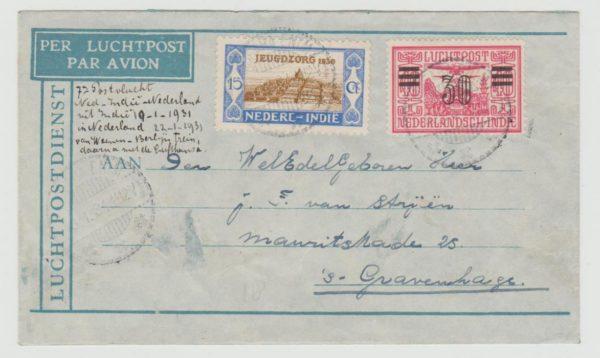 Dutch East Indies air letter