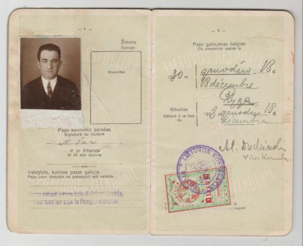 Lithuanian Passport with consular stamp