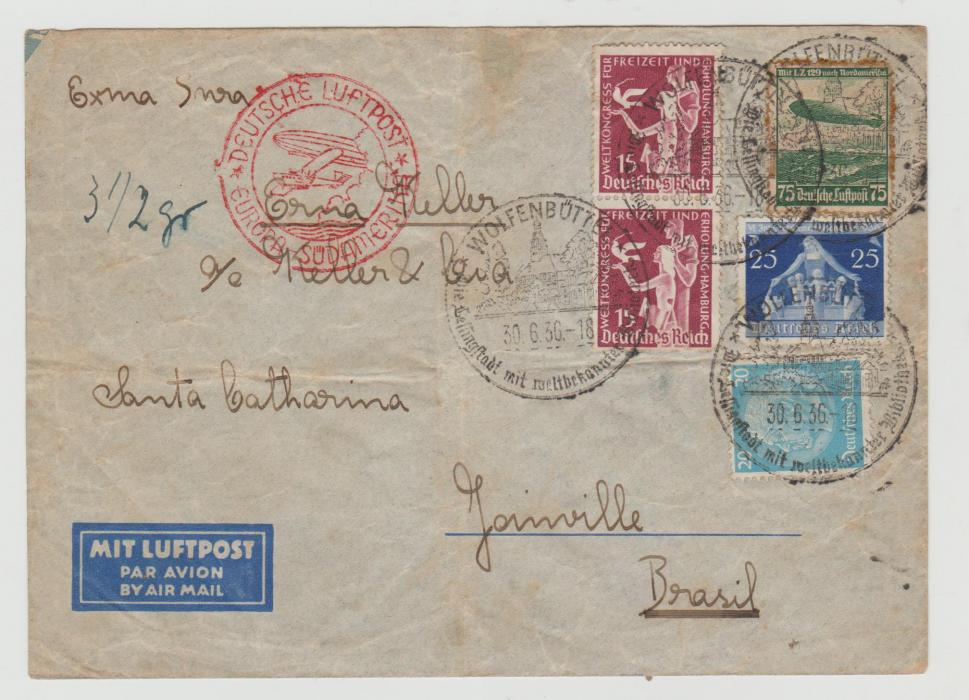 Germany Airmail to Brazil