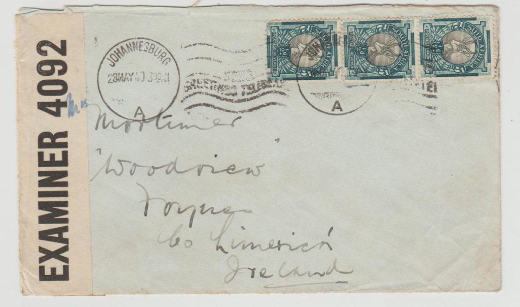 South Africa to Ireland