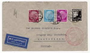GERMANY: 1936 AIRMAIL COVER TO URUGUAY.