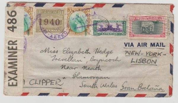 Guatamela to Wales 1941