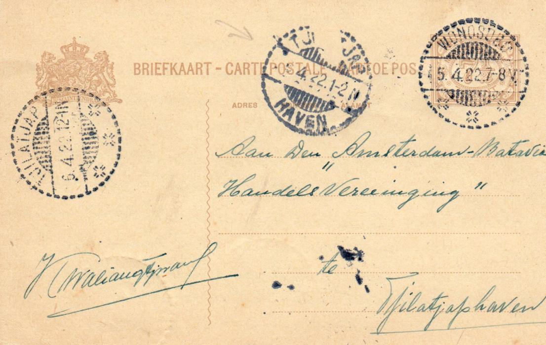 NETHERLANDS INDIES: 1922 POSTAL STATIONERY.