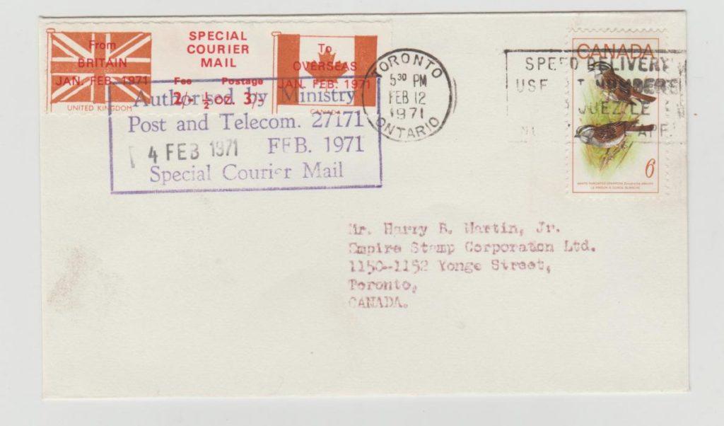 GB Postal Strike Mail to Canada