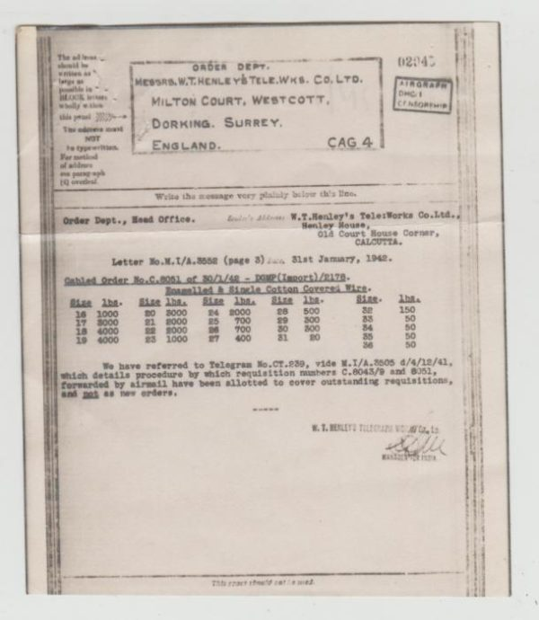 GB WW2 Airgraph