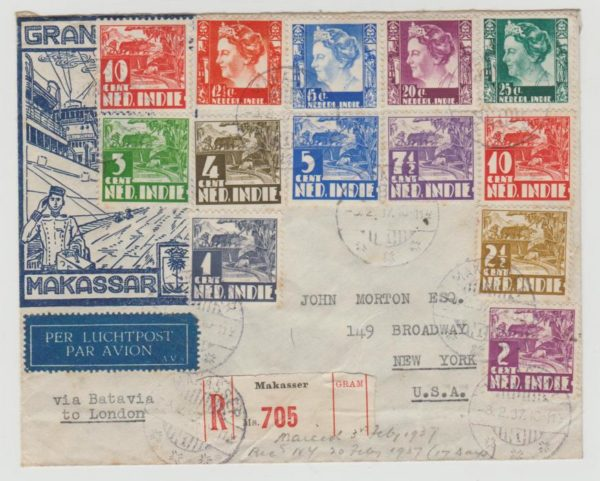 Dutch East Indies Registered Airmail