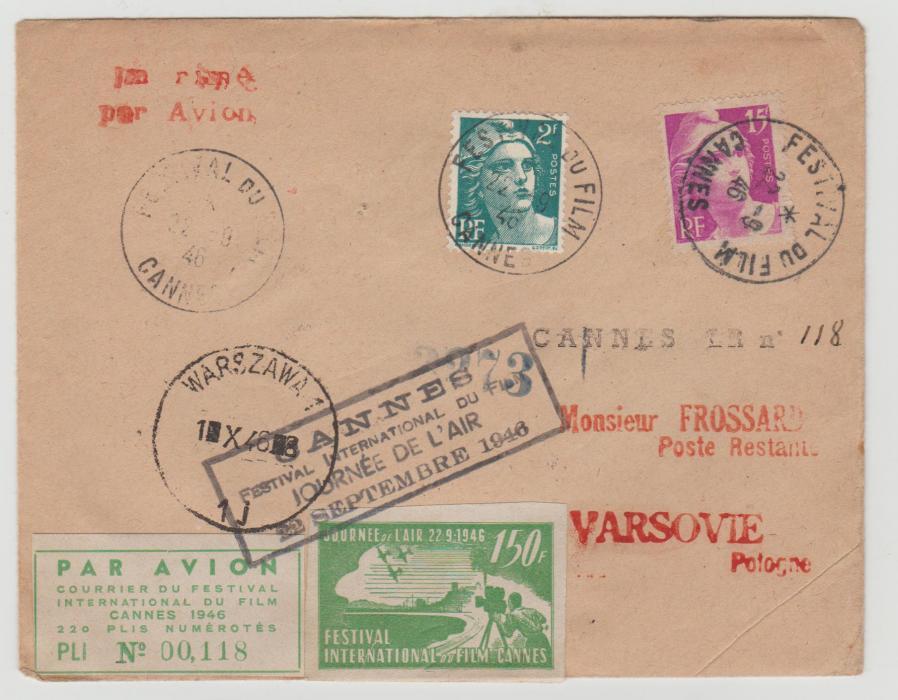 France Film Festival 1946 to Warsaw
