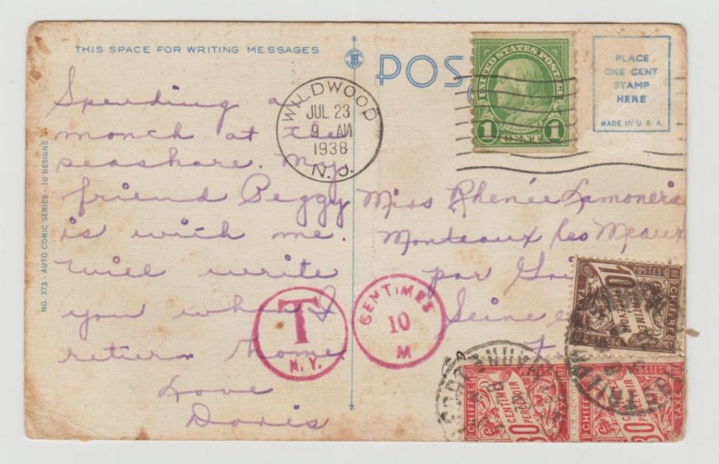 US to France Postage Due 1938