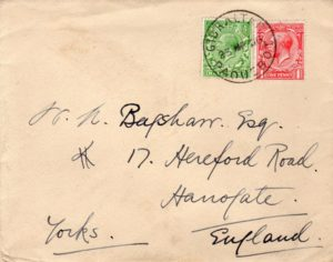 GB: 1926 COVER WITH GIBRALTAR PAQUEBOT POSTMARK.