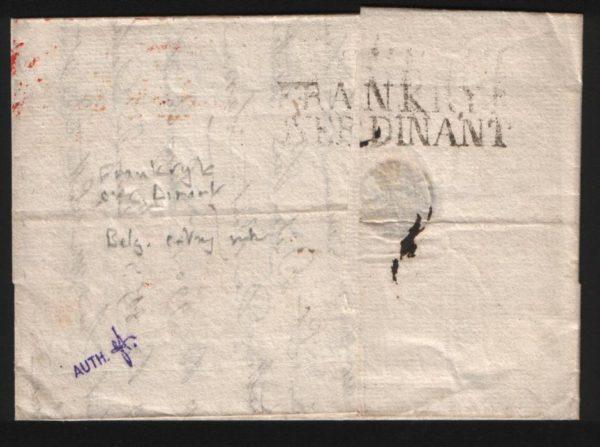 FRANCO-BELGIAN MAIL 1821