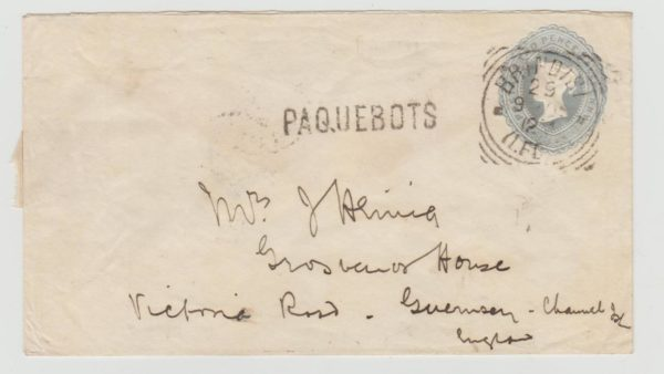 GB 2½d PS Envelope from Brindisi