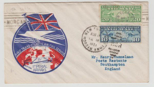 USA Airmail 1st Flight 1933