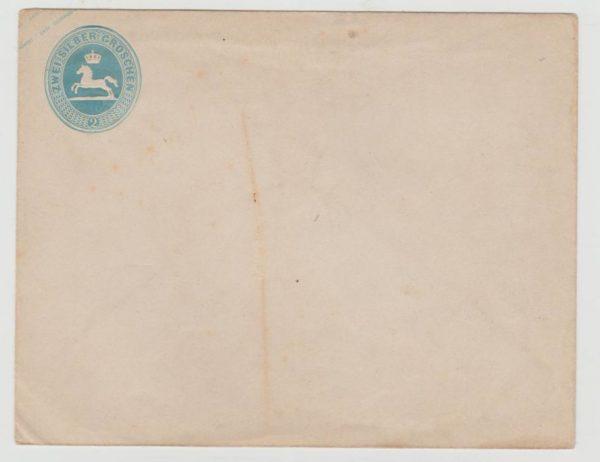 Brunswick 2 silbergroschen PS envelope