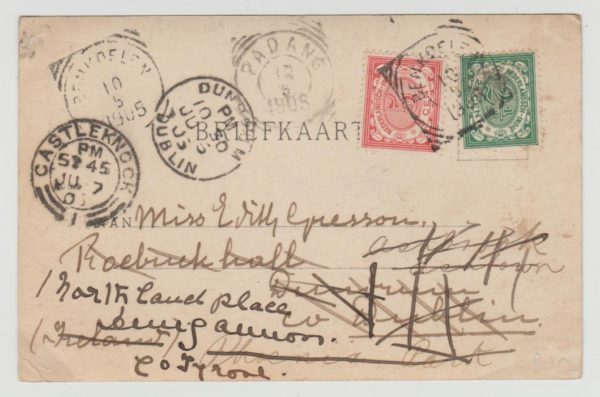 Dutch East Indies to Ireland 1905