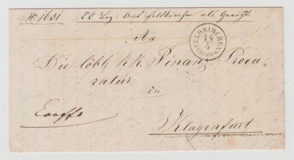 Austrian official envelope 1866