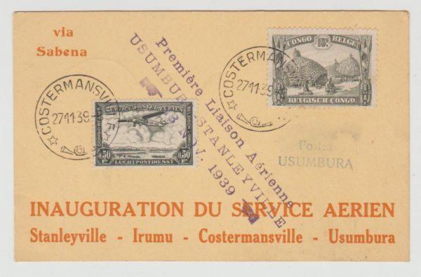 Belgian Congo First Flight 1939