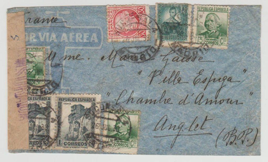 Spanish Civil War to France 1938rn