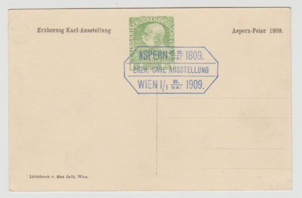 Austria commemorative card 1909