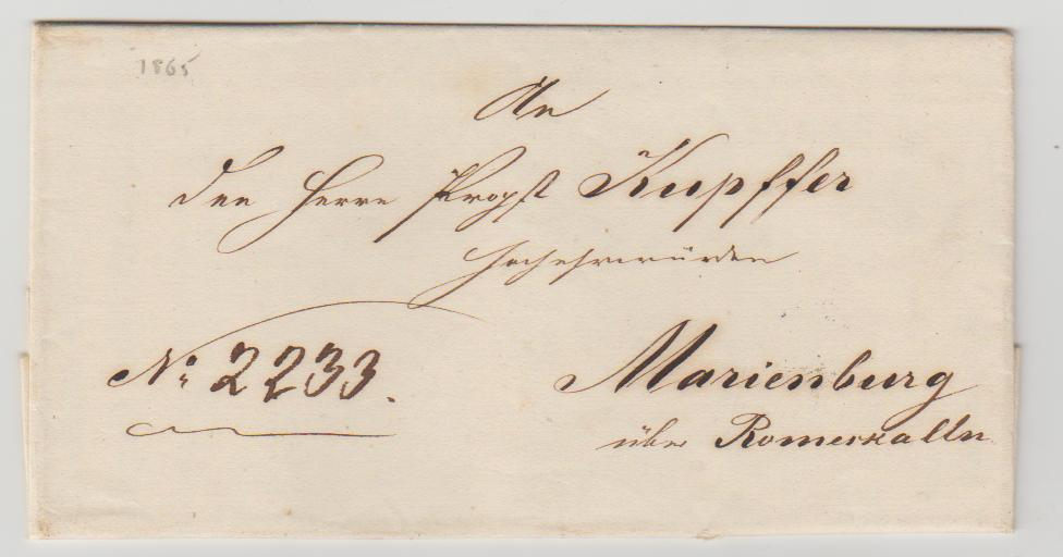 Latvia official mail 1865