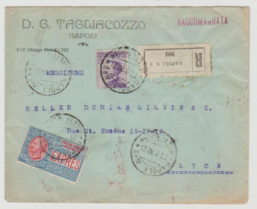 Italy registered express 1921