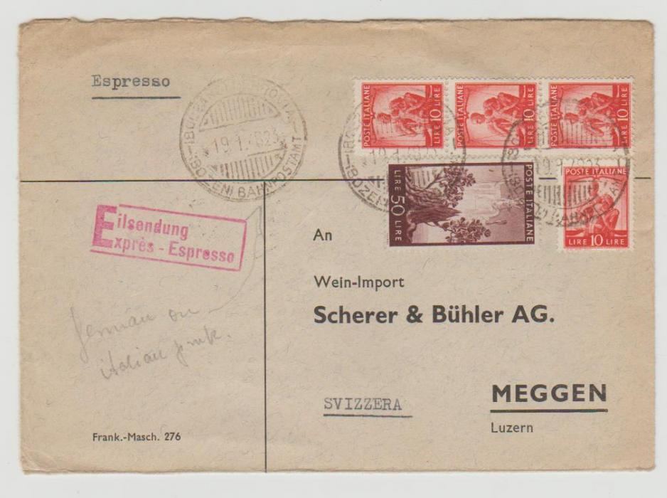 Italy Express Mail 1948