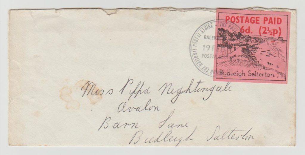 GB Postal Strike 1971 Budleigh-Salterton