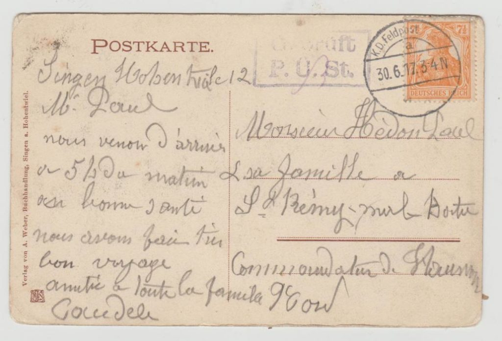 French Civilian Mail from Austria