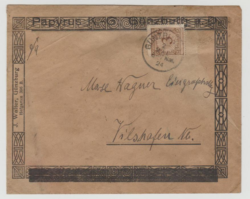 Germany decorative illustrated envelope 1924