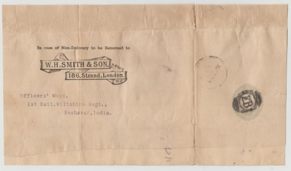 W H Smith wrapper to India