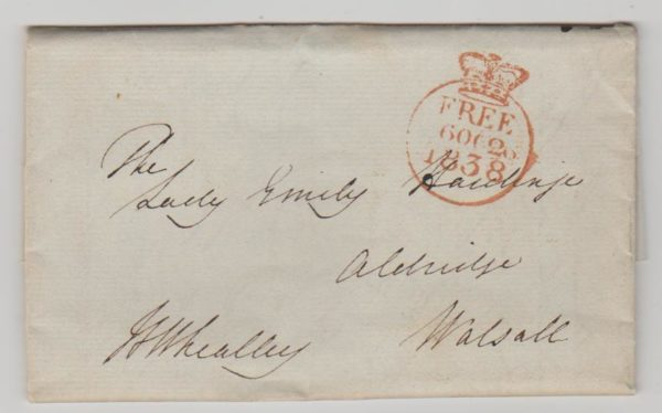 GB 'Free' mail from Malta 1839