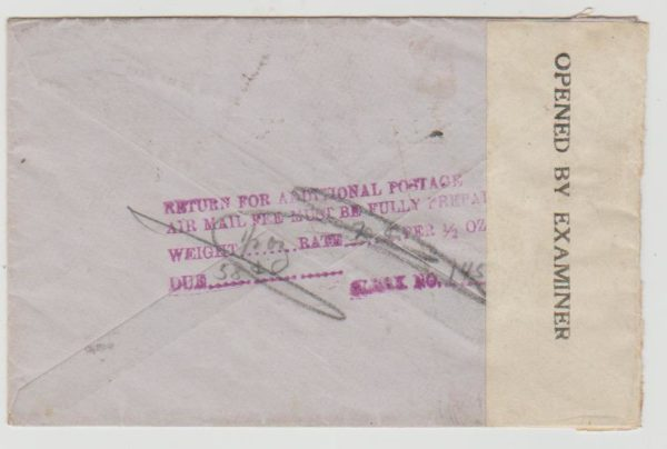 mail to RAF India 1944