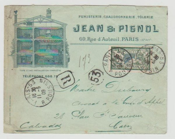France Advertising Envelope 1909