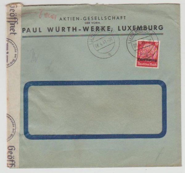 German occupation of Luxemburg 1941