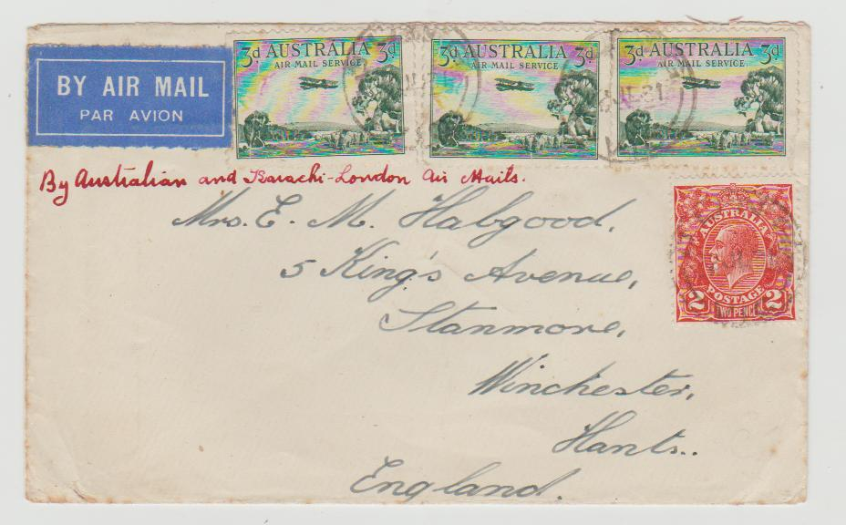 Australia Airmail to UK 1931