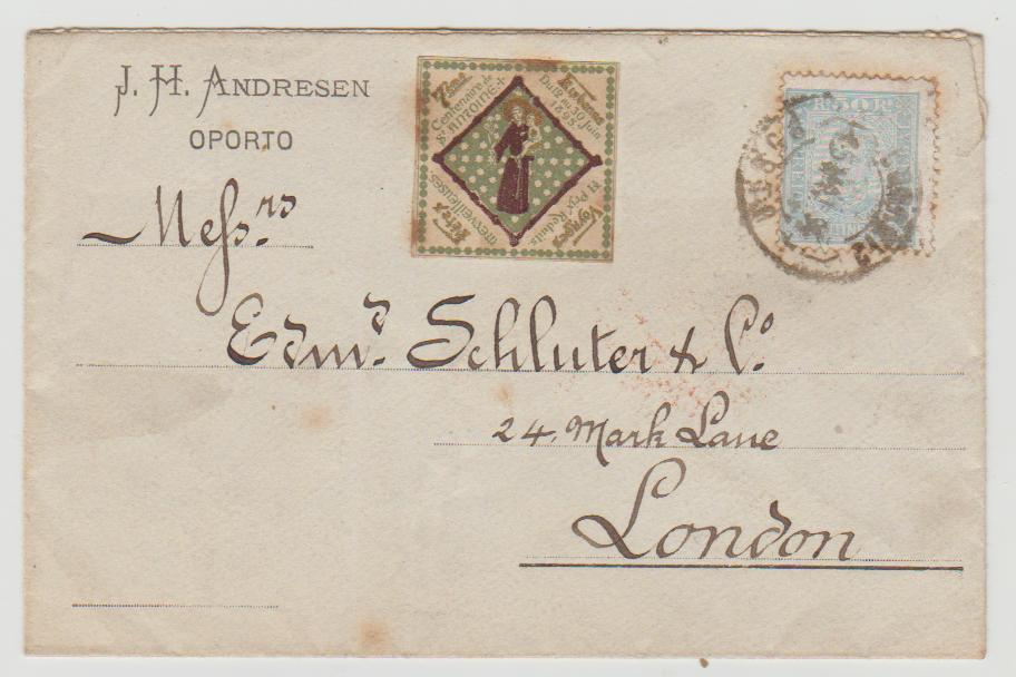 Portugal to London 1896 with charity label