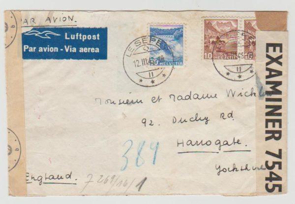 Switzerland to Yorkshire 1943
