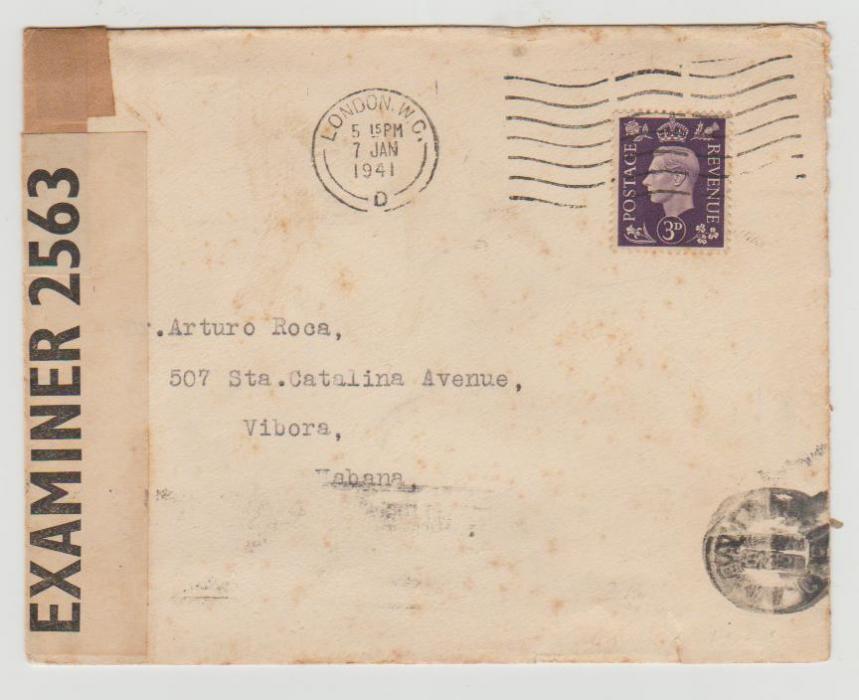 GB to Cuba 1941 censored
