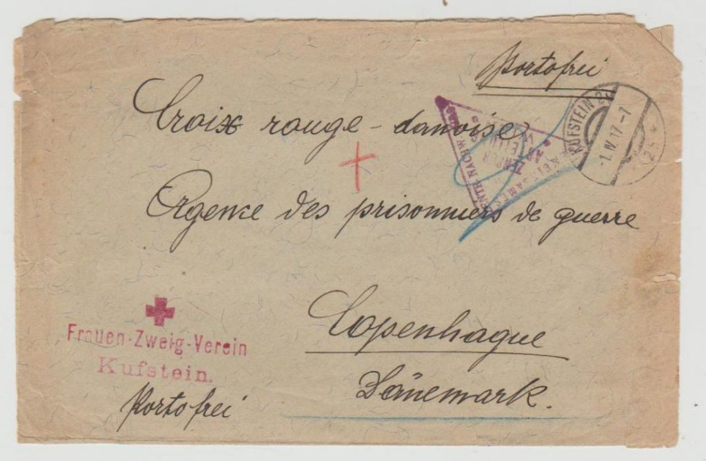 Austrian Red Cross to Danish POW Agency