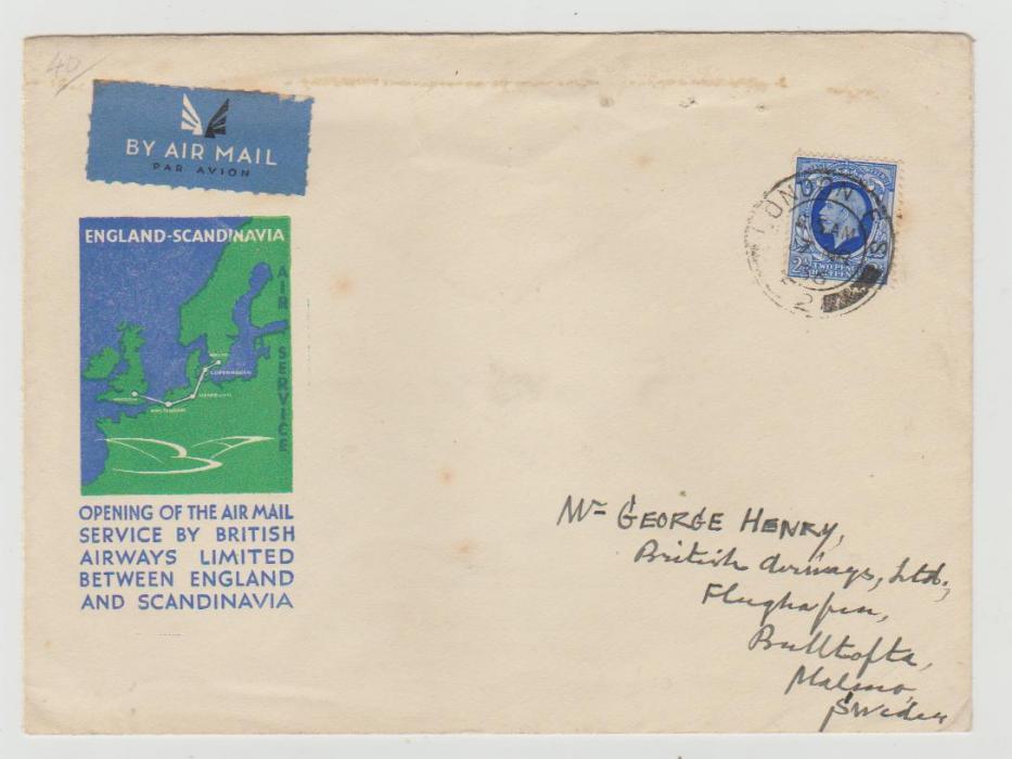 GB 1st Flight England-Scandinavia 1936