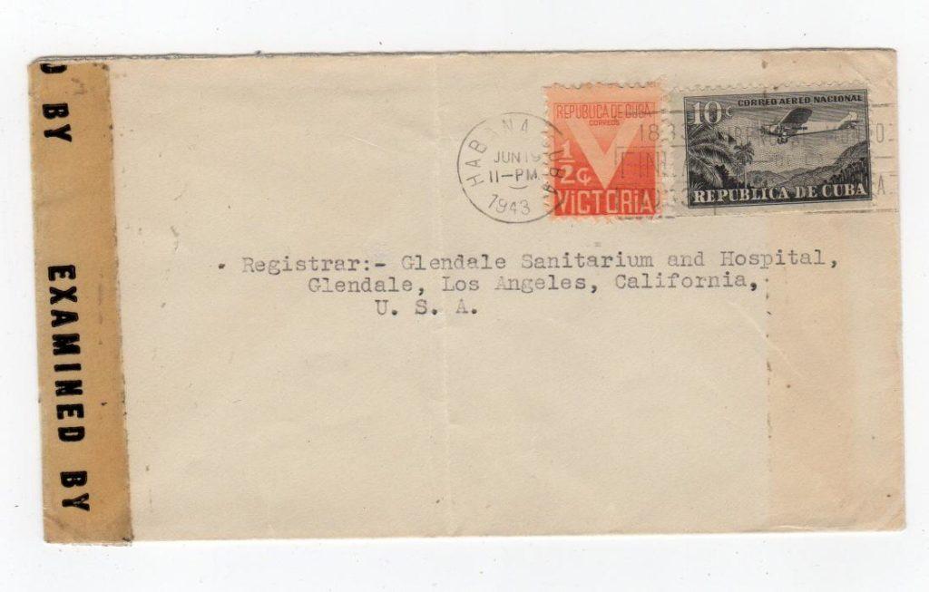 CUBA: 1943 CENSORED COVER TO USA