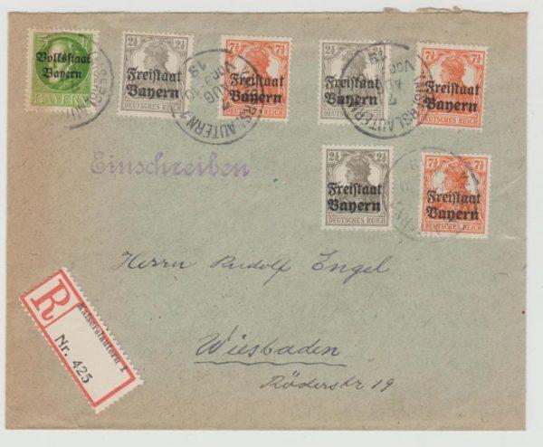 Bavaria 'Free State' Issues 1919