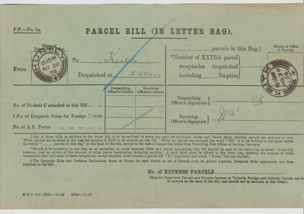 GB Scotland Parcel Bill 1906