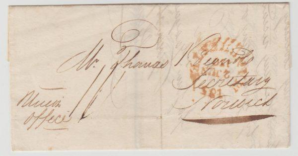 GB Manchester Mileage Mark inverted 1807