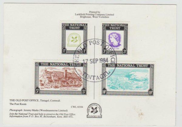 National Trust Labels on Tintagel Card