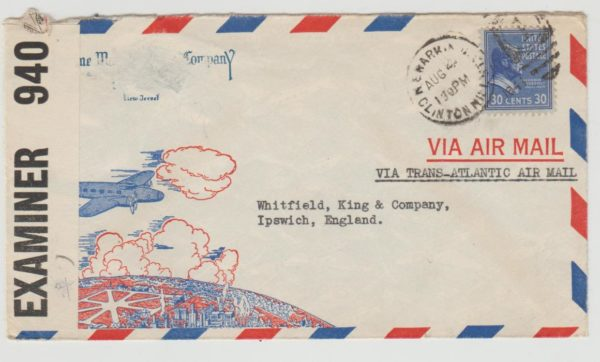 USA Airmail to GB 1941